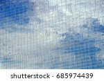 reflection of clouds on... | Shutterstock . vector #685974439