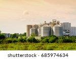 silo structure for storing bulk ... | Shutterstock . vector #685974634