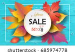 hello autumn sales vector fall... | Shutterstock .eps vector #685974778