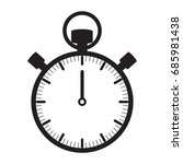 stopwatch icon isolated vector | Shutterstock .eps vector #685981438