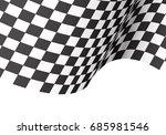 checkered flag wave on white...   Shutterstock .eps vector #685981546