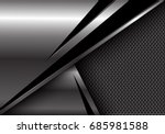 abstract silver black triangle...   Shutterstock .eps vector #685981588