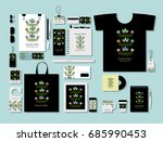 corporate flat mock up template ... | Shutterstock .eps vector #685990453
