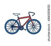 bicycle recreational transport...   Shutterstock .eps vector #686000830