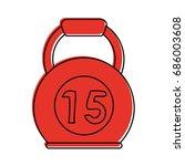 kettlebell 15 weight  icon... | Shutterstock .eps vector #686003608