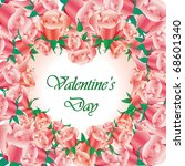 illustrated valentines day card ... | Shutterstock . vector #68601340