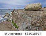 gentle waves breaking  tidal...   Shutterstock . vector #686015914