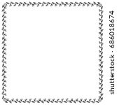 doodle frame from universal... | Shutterstock . vector #686018674