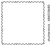 doodle frame from universal... | Shutterstock . vector #686018680