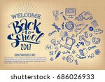 back to school notebook sheet... | Shutterstock . vector #686026933