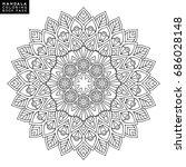 outline mandala for coloring... | Shutterstock .eps vector #686028148