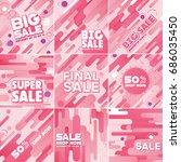 multipurpose social media kit...   Shutterstock .eps vector #686035450
