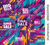multipurpose social media kit... | Shutterstock .eps vector #686035456