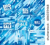 multipurpose social media kit...   Shutterstock .eps vector #686035468