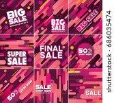 multipurpose social media kit...   Shutterstock .eps vector #686035474