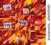 multipurpose social media kit... | Shutterstock .eps vector #686035480