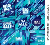 multipurpose social media kit...   Shutterstock .eps vector #686036278
