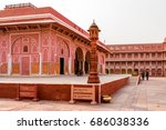 city palace  jaipur  india | Shutterstock . vector #686038336