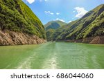small gorges on the daning... | Shutterstock . vector #686044060