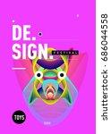 abstract modern toys design... | Shutterstock .eps vector #686044558