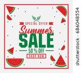 summer sale   special offer  ... | Shutterstock .eps vector #686048554