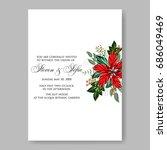 poinsettia winter floral... | Shutterstock .eps vector #686049469