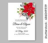 poinsettia winter floral... | Shutterstock .eps vector #686049559