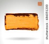 brush stroke and texture.... | Shutterstock .eps vector #686051200