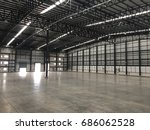 a warehouse is a commercial...   Shutterstock . vector #686062528