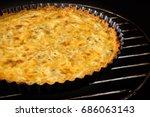 Homemade Chicken Cheese Quiche...
