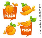 vector collection of fruit and... | Shutterstock .eps vector #686069470