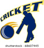 illustration of a cricket... | Shutterstock . vector #68607445