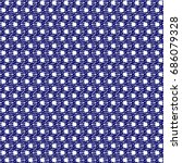 blue spotted textile fabric... | Shutterstock .eps vector #686079328