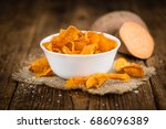 Sweet Potato Chips On An Old...