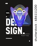 abstract modern toys design...   Shutterstock .eps vector #686111200