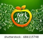 back to school horizontal... | Shutterstock . vector #686115748