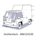 truck van bus | Shutterstock . vector #686124130