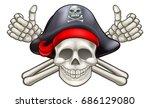 skull and crossbones jolly...   Shutterstock .eps vector #686129080