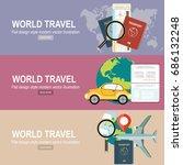vector modern flat design web... | Shutterstock .eps vector #686132248