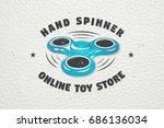 hand fidget spinner stress... | Shutterstock .eps vector #686136034