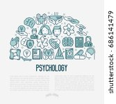 psychological help concept with ... | Shutterstock .eps vector #686141479