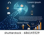 abstract technology infographic ... | Shutterstock .eps vector #686145529