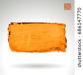 brush stroke and texture.... | Shutterstock .eps vector #686147770