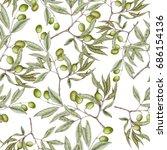 seamless pattern of hand drawn... | Shutterstock . vector #686154136