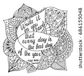 coloring page with motivational ... | Shutterstock .eps vector #686155048