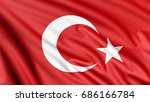 the national flag of turkey or... | Shutterstock . vector #686166784