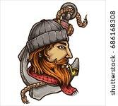 vector illustration of sailor... | Shutterstock .eps vector #686168308