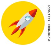 icons rocket of toys in the... | Shutterstock . vector #686170309