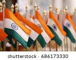 celebrating india independence... | Shutterstock . vector #686173330