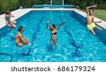 young friends having fun in the ... | Shutterstock . vector #686179324